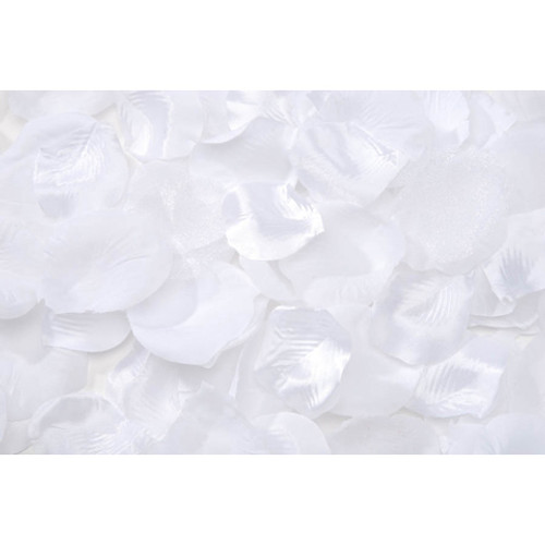 Pack of 100 Loose Rose Petals - White