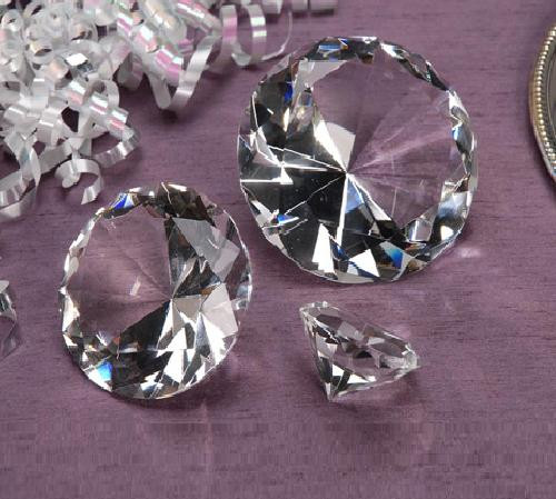 Crystal Cut Diamond Shape - 2 Inch Diameter - 1 pc per Box