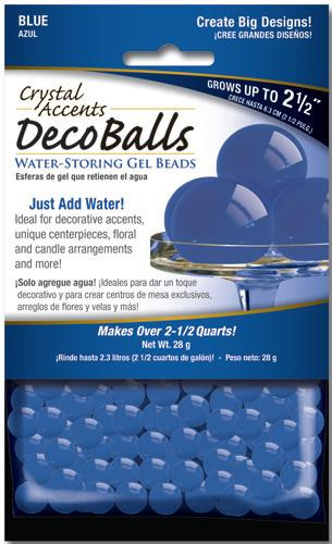 Crystal Accents Deco Balls 1 oz Retail Pack Blue