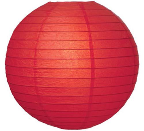 Premium Red 16-Inch Round Paper Lantern