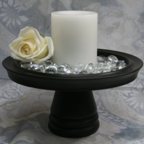 Round Flameless Real Wax Pillar Candles 4-Inch White