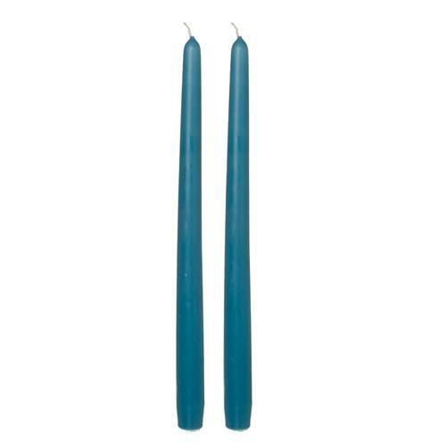12 Inch Wax Taper Candles - Blue - 2 Pack Unscented