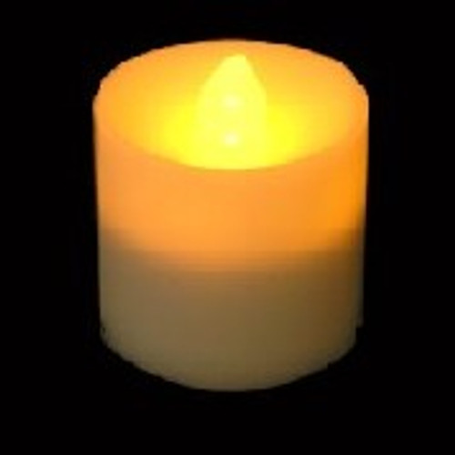 Acolyte Amber Votive Candle With Flicker