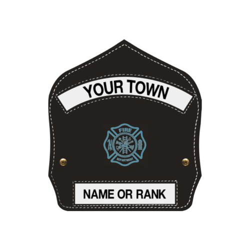 Bullard Leather Helmet Front with Your Town and Your Name or Rank