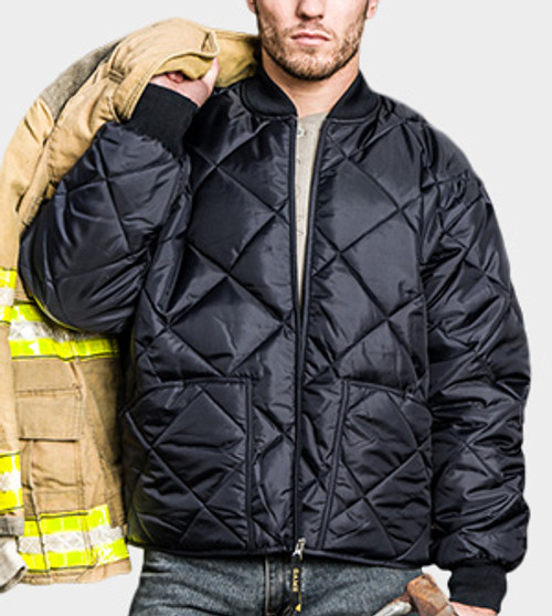 Game Sportswear Navy Bravest Quilted Jacket - 1221