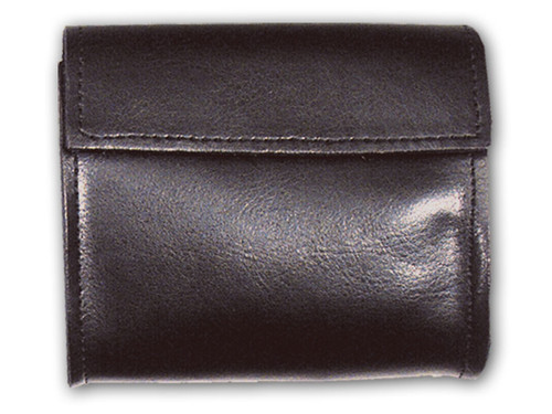 Large Plain Black Leather Police Glove Holder