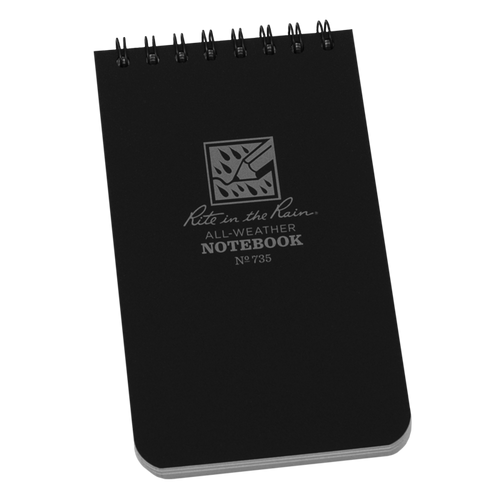 Rite in the Rain Black Top Spiral Waterproof Notebook
