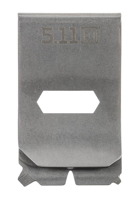 5.11 Multitool Money Clip - Steel - Front
