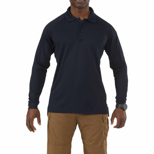 Performance Polo - Long Sleeve - Dark Navy (724)
