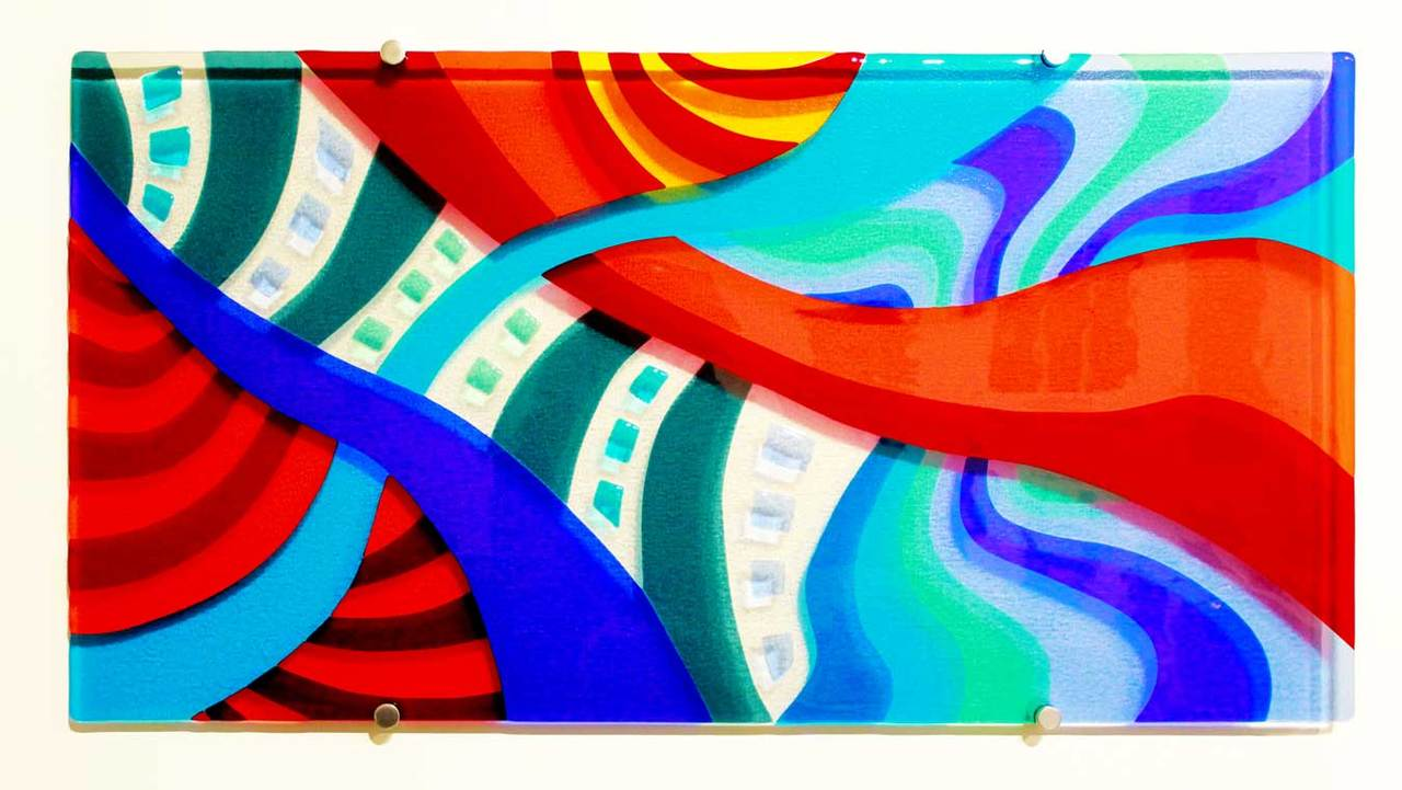 Hand-crafted and kilnformed glass wall art from Galiani Glass Art