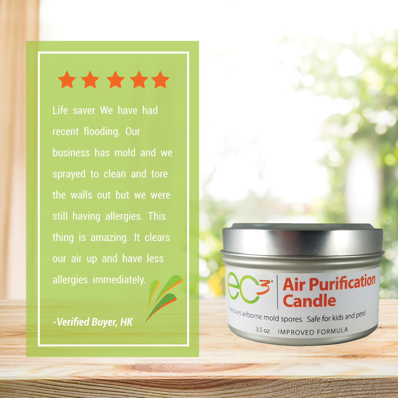 EC3 Air Purification Candle