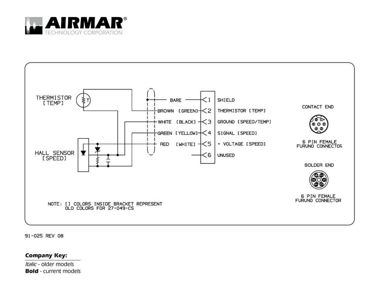 airmar wiring diagram furuno 6 pin blue bottle marinespeed \u0026 temperature transducer with furuno 6 pin connector