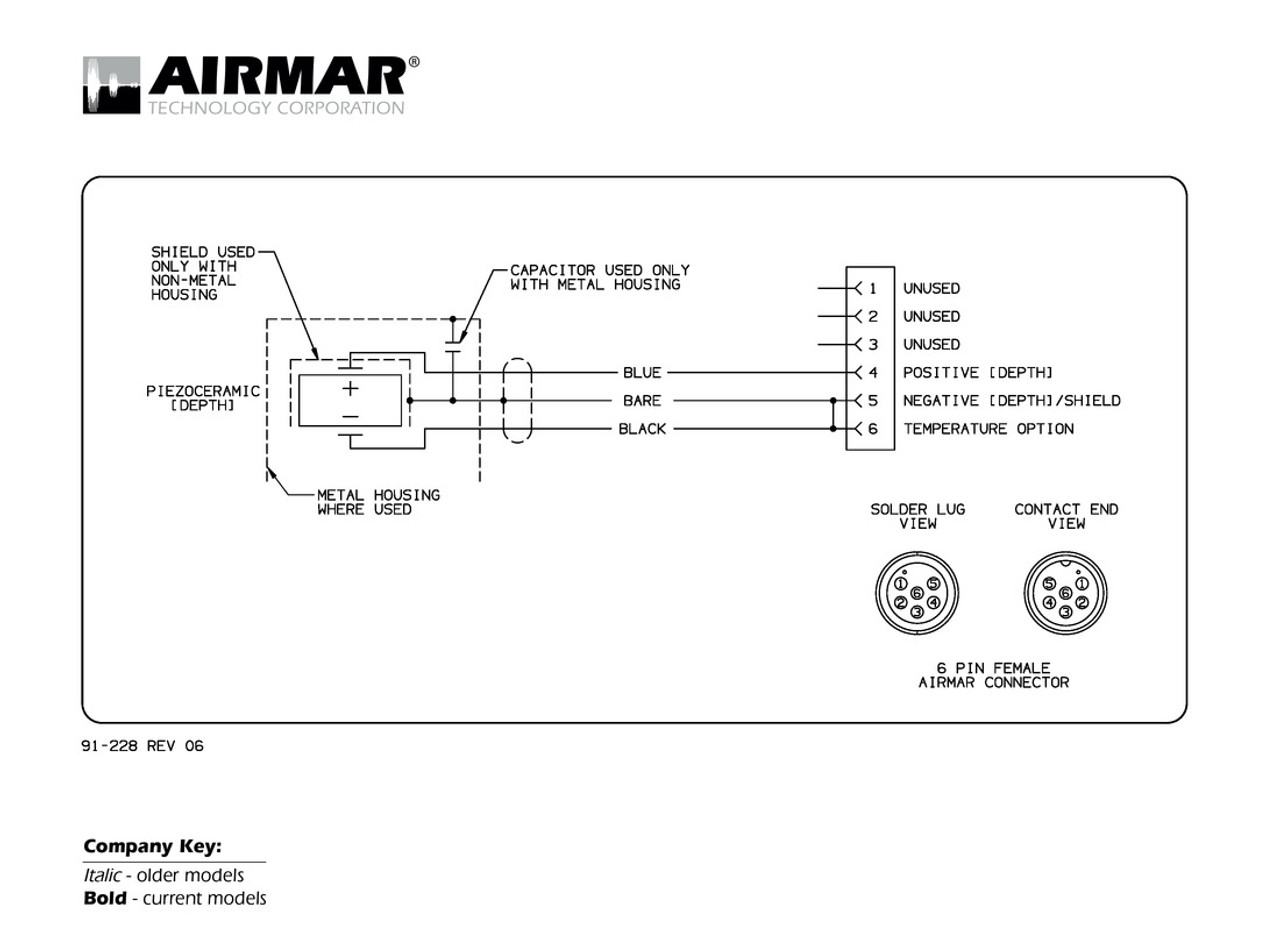 airmar wiring diagram garmin 6 pin (d) blue bottle marinedepth transducer with garmin 6 pin connector ( 6g)