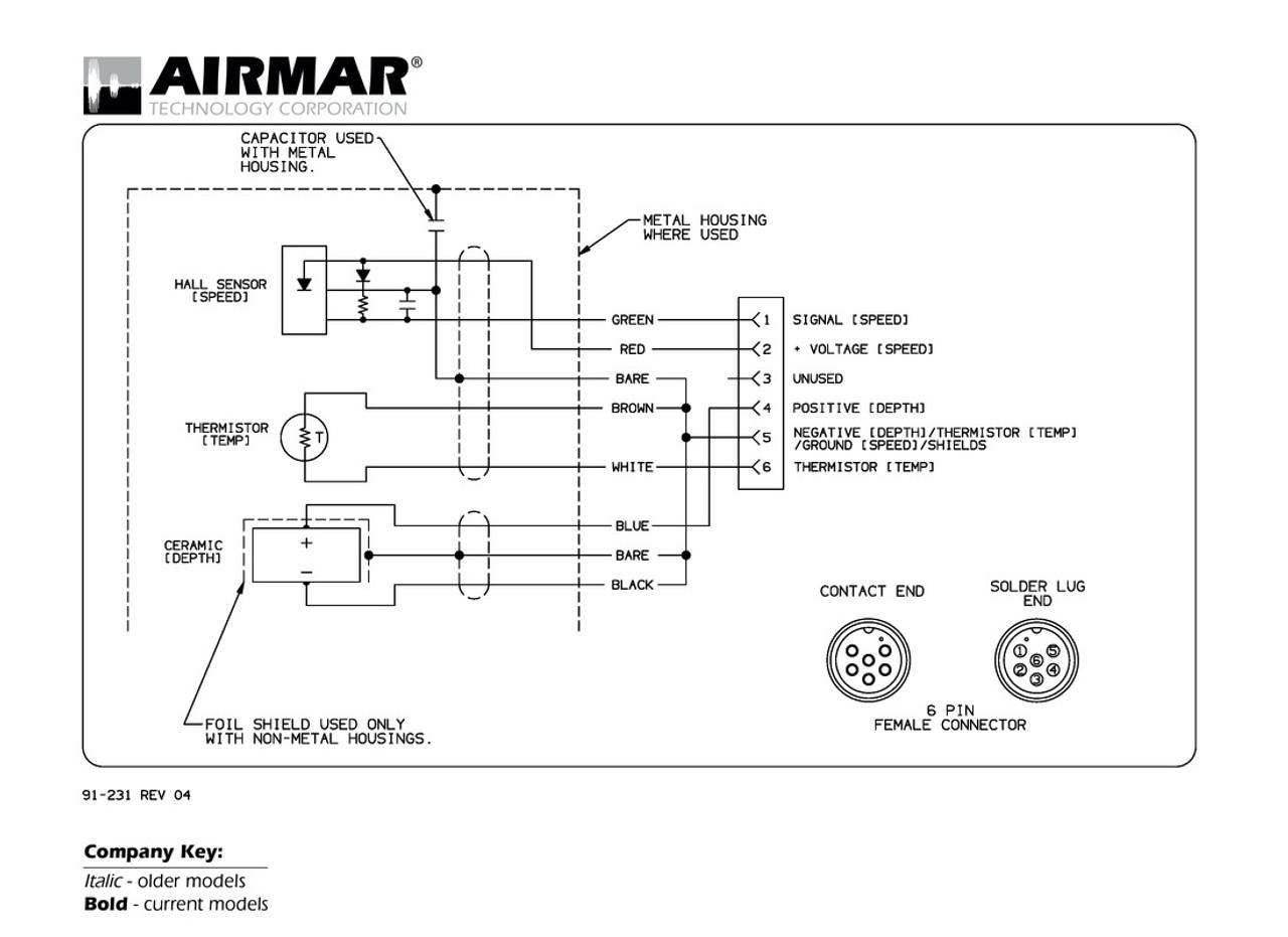 Garmin Chartplotter Wiring Diagram Delphi Radio Airmar 6 Pin S D T Blue Bottle Marine Rh Bluebottlemarine Com Nmea 0183