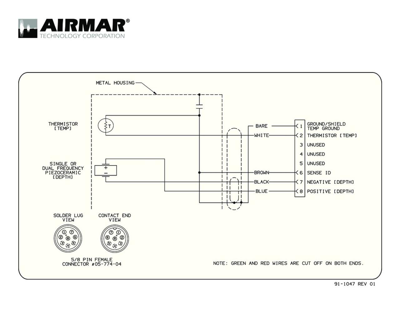 airmar wiring diagram garmin b117 8 pin d t blue bottle marine Airmar Transducer Wiring depth temperature b117 transducers with garmin 8 pin connector