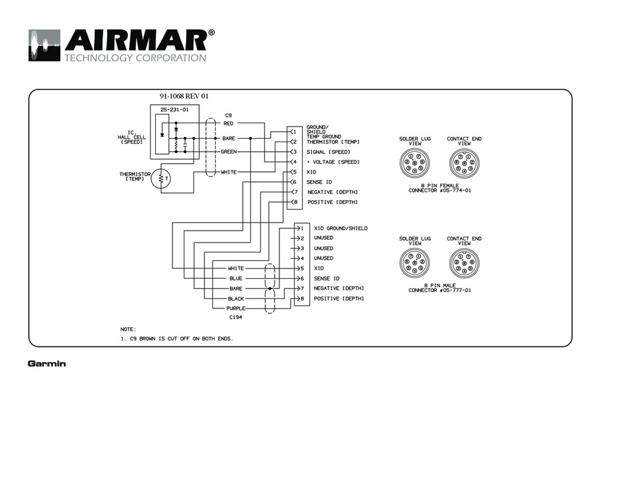 Airmar Wiring Diagram Garmin St850 8 Pin S T Blue