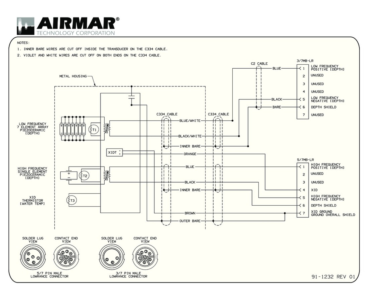 7 Pin Plug Wiring Diagram For Lowrance Wire Center Elite 127 49 Airmar Navico Non Diplex 1kw Blue Bottle Marine Rh Bluebottlemarine Com Trailer Brake Phillips