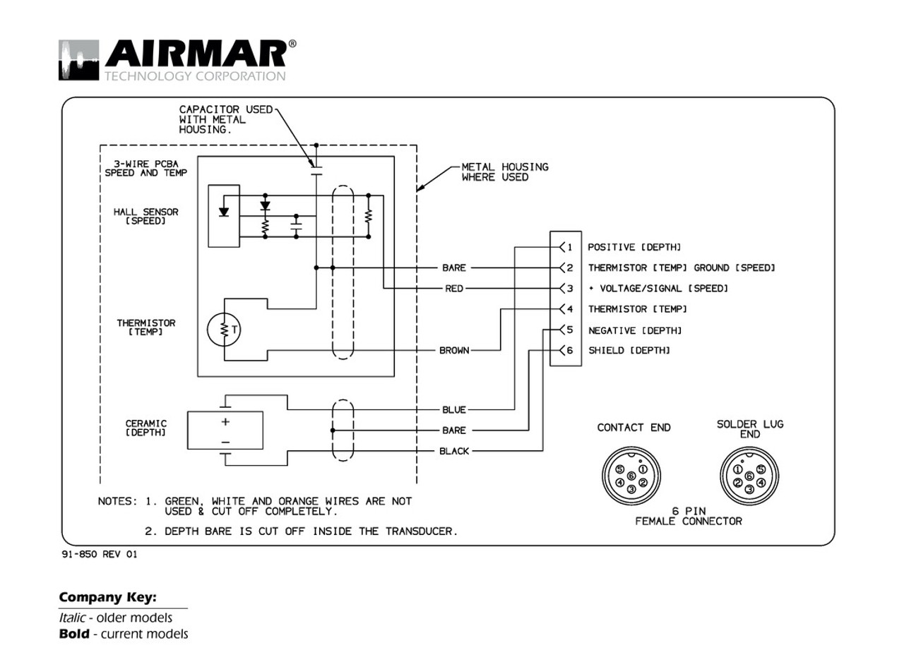 6 Pin Wire Diagram Wiring Schematics Trailer Plug Eiting Airmar Navman Northstar Blue Bottle Marine For