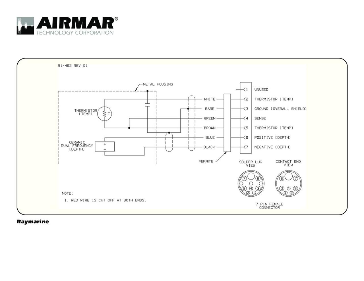 Airmar Wiring Diagram Raymarine 7 Pin  D T