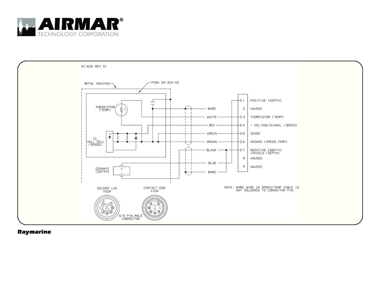 9 Pin Wiring Diagram Content Resource Of Ducati Monza Airmar Raymarine A Series Blue Bottle Marine Rh Bluebottlemarine Com