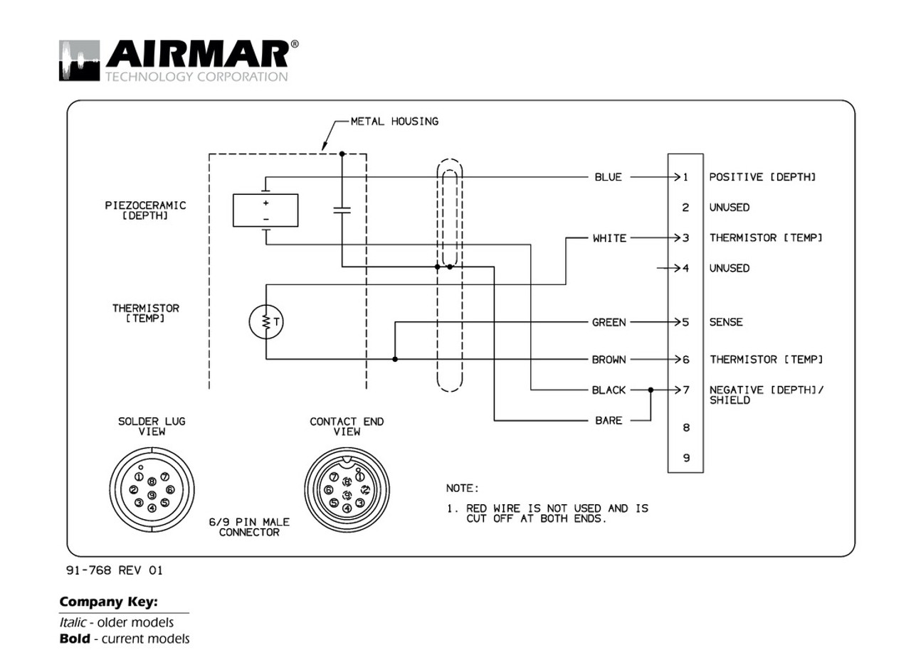9 Pin Wiring Diagram Sample Marine 10 Mercruiser Harness Airmar Raymarine 6 Blue Bottle 7