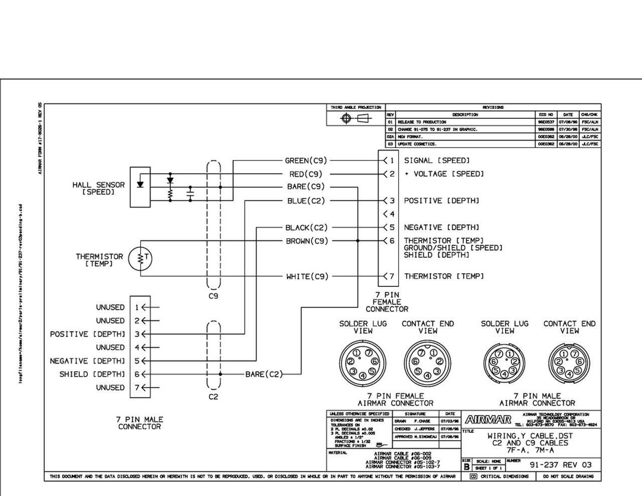 airmar wiring diagram simrad st650 7 pin blue bottle marine rh bluebottlemarine com 7 Pin Flat Wiring Diagram Truck 7 Pin Wiring Diagram