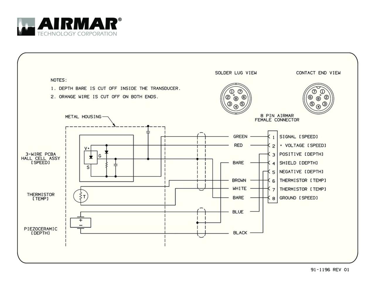 8 Pin Connector Wiring Diagram Free For You Din Schematic Airmar Sitex Blue Bottle Marine Rh Bluebottlemarine Com Plug Conector