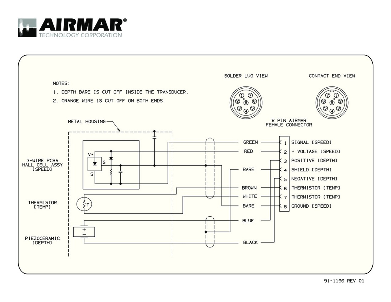 Airmar Wiring Diagram Sitex 8 Pin