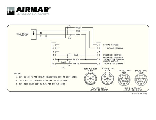 airmar wiring diagram garmin 6 pin (s) blue bottle marinespeed sensor with y cable for garmin 6 pin connector ( 6g)