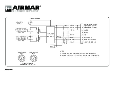 airmar wiring diagram garmin r99 8 pin (d, t) blue bottle marine garmin