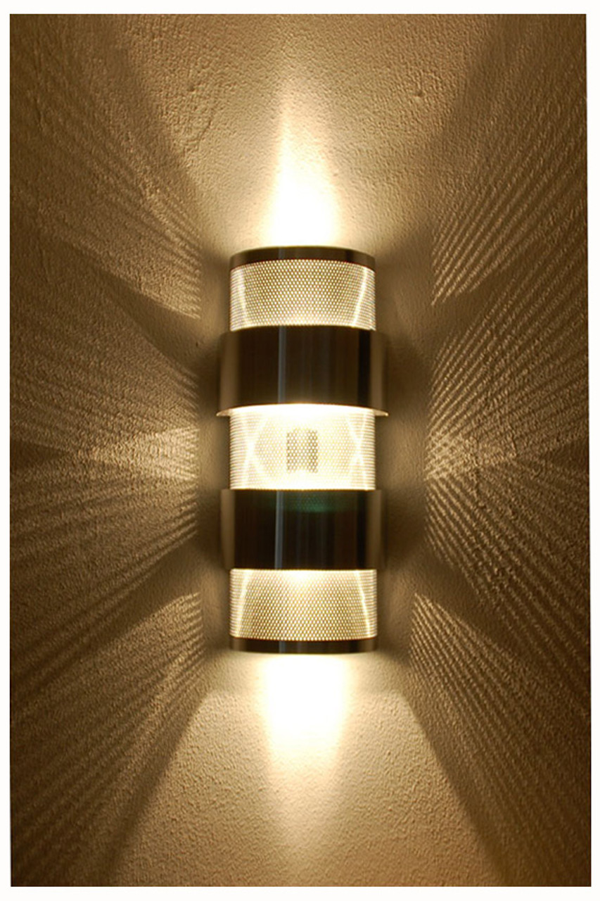 Stacked Ziggurat Wall Sconce Light | Up Down Light