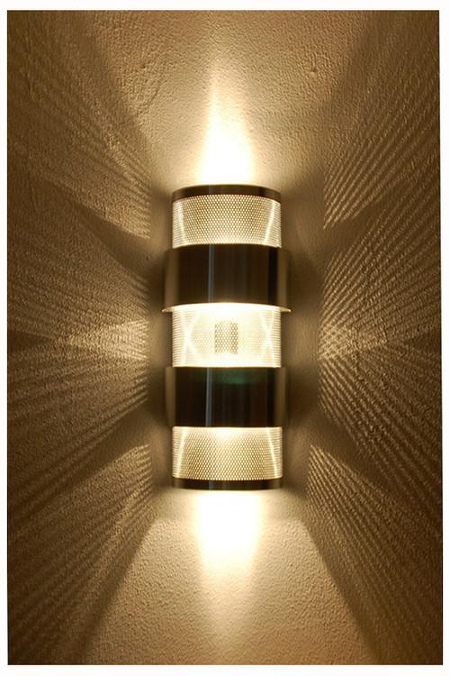 Stacked Ziggurat Wall Sconce Light Up Down Light