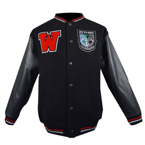 Vodafone Warriors Black Stadium Jacket