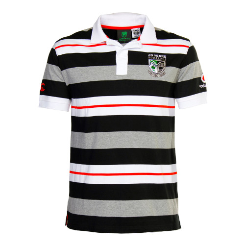 2015 Vodafone Warriors 20 Year Striped Polo