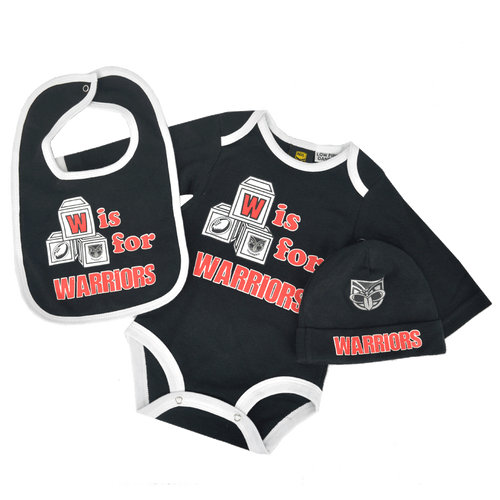2016 Warriors Infant Bodysuit 3pc Gift Pack
