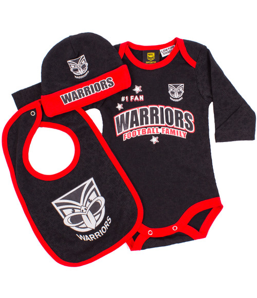 2017 Warriors Bodysuit 3pc Gift Set