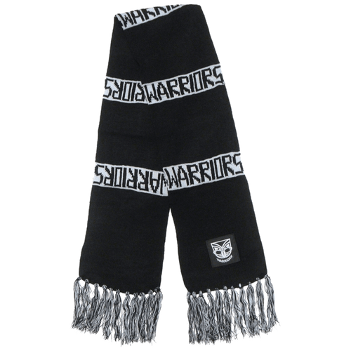 Warriors Knitted Bar Scarf
