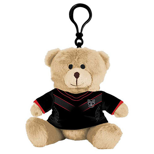 Warriors Plush Teddy Bag Tag