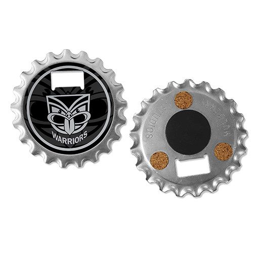 Warriors Bottle Opener Coaster Magnet