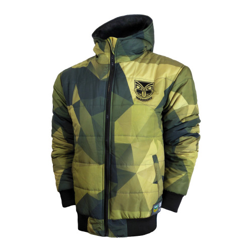 2018 Warriors NRL Supporter Camo Jacket