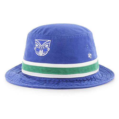 2019 Warriors 47 Brand Striped Bucket Hat
