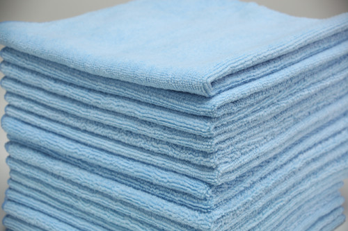 16x16 Blue Microfiber Towels Wholesale And Bulk