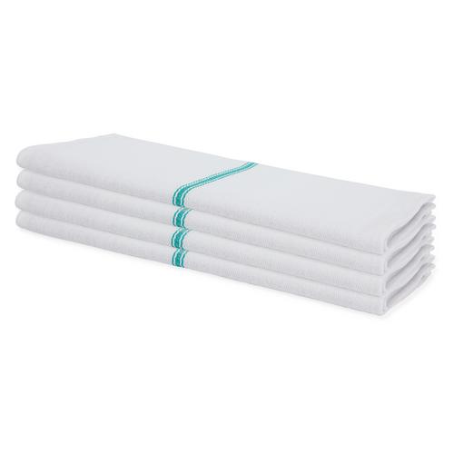 Low Lint Heavyweight Green Stripe Herringbone Towel (1 dozen)