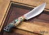 Cross Knives: U.P. Skinner Knife - Stabilized Dyed Maple - Black Liners - Black Pins