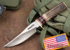 Randall Made Knives: Model 27 Trailblazer - Stag - Red Micarta Spacers - Stainless Steel