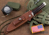 Randall Made Knives: Model 1-7 All Purpose Fighting Knife - Maroon Micarta - Stainless Steel