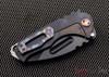 Medford Knife & Tool: Praetorian Genesis G - Black G-10 and Black PVD Titanium - Flamed Hardware - Tanto
