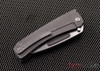 Medford Knife & Tool: Midi Marauder - Tumbled Finish Titanium - Drop Point