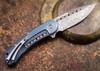 Todd Begg Knives: Steelcraft Series - Bodega - Blue Frame - Blue Fan Pattern - Damasteel - 010