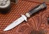 Alan Warren Knives: Boot Knife - Blackwood - Ironwood & Fossil Walrus Tusk Spacers - G-10 Pommel